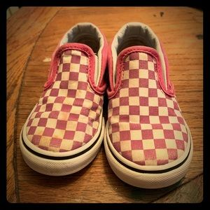 💋Raspberry Checkered Vans Toddler Sz7💋